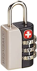 Wenger Triple Combination Luggage Lock - Grey