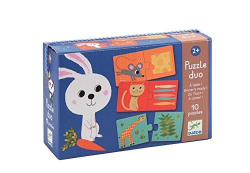 Djeco Dinner's Ready! Duo Puzzle (10 Puzzles/20 Pieces) by Djeco