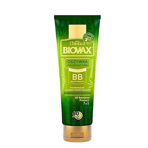L'biotica Biovax Natural Express Conditioner Avocado & Bamboo BB 60s