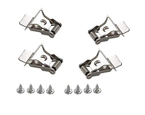 Clips Set Federclips Montagematerial für LED Panel Halterung Befestigungsmaterial/Art.4209/ HELITEC 4-er Set für Decken Einbau