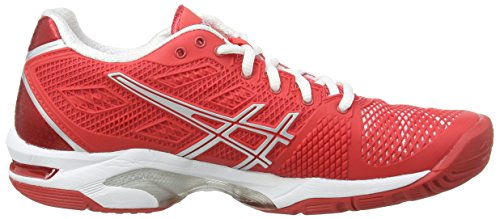 Asics Gel-solution Speed 2, Chaussures de Tennis Femme Rouge (Hibiscus/Silver/White 2393)