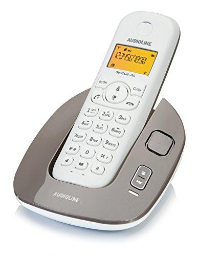 Audioline 904296 Switch 280 schnurloses DECT/GAP Telefon mit Anrufbeantworter