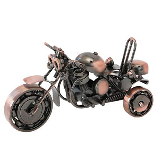 Bontand Retro-Motorrad-Eisen-Kunst-Tricycle Modell Bürodekoration Einrichtungsgegenstände für Haus Coffee Bar Ornaments Dekoration
