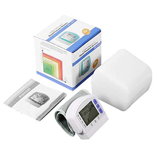 JesseBro76 Mini Digital Automatisches Handgelenk-Blutdruck-Pulsmessgerät Herzschlagmessgerät weiß -