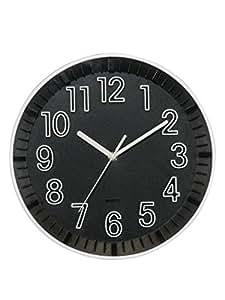 Basement Bazaar Attractive Plastic Wall Clock (30cm x 30cm,Black)