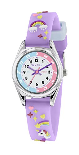 Tikkers Reloj Analógico para Niñas de Cuarzo con Correa en Tela TK0145