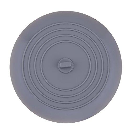 6 Zoll Silikon Wanne Stopper Ablassschraube für Küche, Bäder und Wäschereien (Grau)