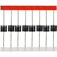 BOJACK Diodo Schottky 10SQ050 (10A 50V) axial 10SQ050 (10 amps 50 voltios) para diodos de protección contra reflujo paralelos en paneles solares (paquete de 20 piezas)