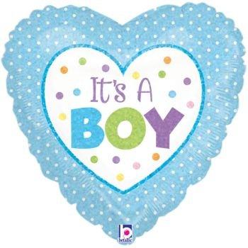 ienballon 18 Zoll / 46 cm (Baby-dusche-its A Boy)