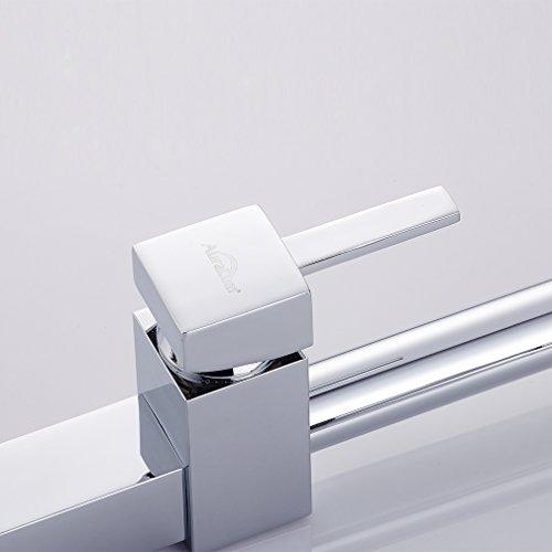 Auralum® Ausziehbare Küchenarmatur Spültischarmatur Einhandmischer Geschirrbrause Wasserhahn Mischbatterie Küche Spülbecken Spültisch Armatur -