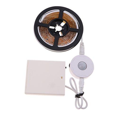 D DOLITY Veilleuse de Nuit Corps Humain Mouvement Capteur Induction et Lampe de Bande - Blanc chaud 1,5 mètre