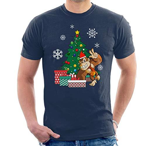 Donkey Kong Around The Christmas Tree Men's T-Shirt