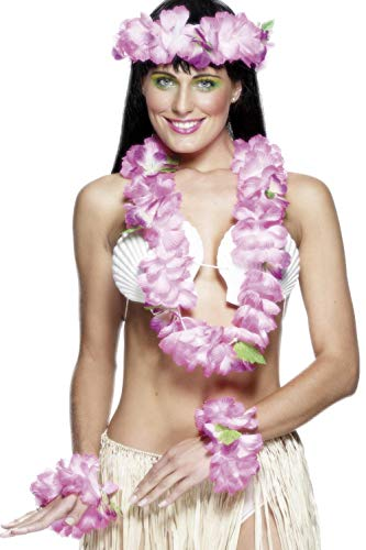 Kostüm Krone Feuer - Smiffys Hawaii-Set Rosa