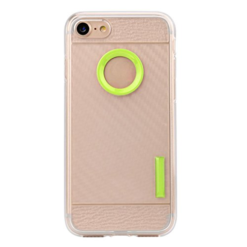 Ouneed® Für iPhone 7 Hülle, Thin Soft Protection Silicone Gel Case Cover For IPhone 7 4.7 Zoll (Gold) Grün