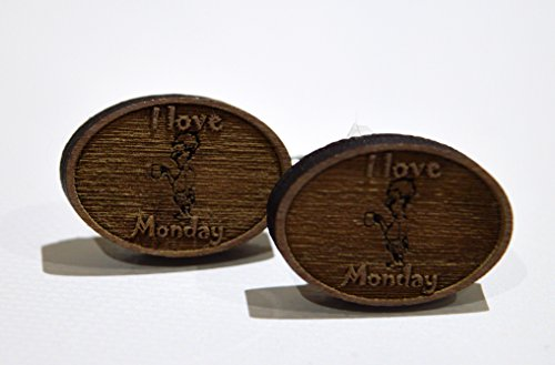novelty-i-love-mondays-wooden-cufflinks-ideal-gift-for-christmas-birthday-and-fathers-day