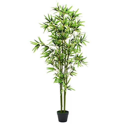 Festnight Planta De Bambú Artificial con Maceta