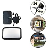 Safe-O-Kid Large-Car Essential Mirror-Rear 360 Degree Rotational View , Black