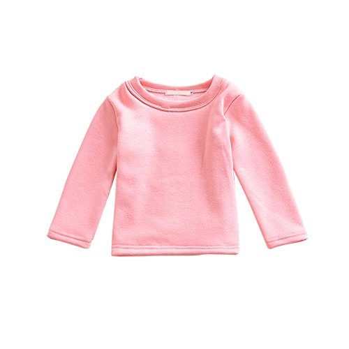 Brightup Kleinkind Baby Mädchen Jungen Crewneck T-Shirt Pullover Fleece Sweatshirt Tops Bluse Langarm für 0-5 Jahre Kinder (Top 7-fleece-crewneck)
