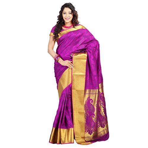 Varkala Silk Sarees Silk Resham Saree (Jp7101Pv _Purple)