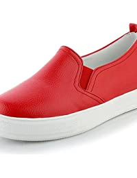 ZQ gyht Zapatos de mujer-Plataforma-Comfort / Punta Redonda-Mocasines-Oficina y Trabajo / Vestido / Casual-Semicuero-Negro...