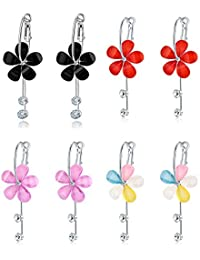 Jewels Galaxy Copper Drop Earrings for Girls (Multi-Colour)(CB-BLL-4579)