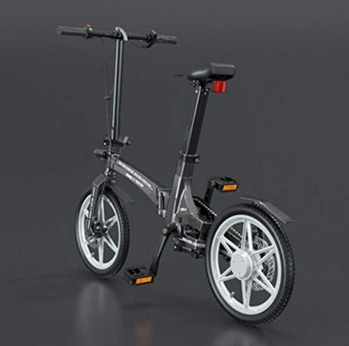 Fahrrad 16 Zoll klapp elektrofahrrad tragbare kleine magnesiumlegierung elektrofahrzeug Geeignet für den Alltag Sport und selbst Fitness (Color : Gray1)
