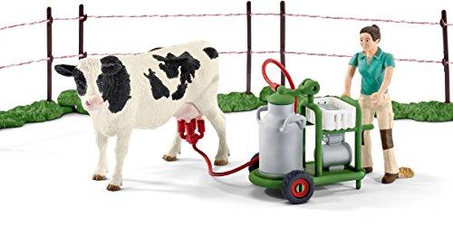 Schleich 41428 – Kuhfamilie auf der Weide, mehrfarbig - 4