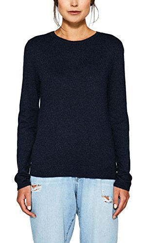 edc by ESPRIT Damen 077CC1I024 Pullover, Blau (Navy 400), Medium