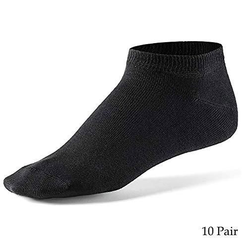 JZTRADING No Show Socks Yoga Liners Thermische Socken Baumwollbootsocken Einfarbige Söckchen Zuhause Hinausgehen Gehen (10 Paar) (Welly Liner Sock)