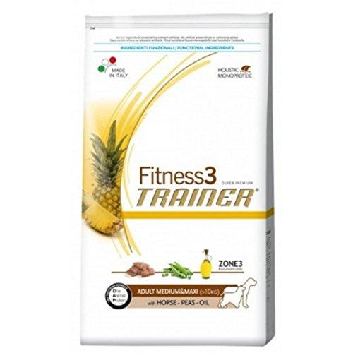 TRAINER Fitness 3 Medium&große Pferd Erbsen + Ã-l 3kg Korn frei Hundefutter -