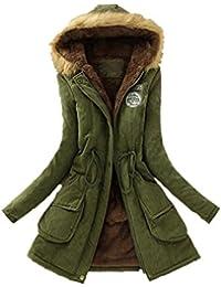 Abrigo Parka para mujer, Amlaiworld Mujeres abrigo largo caliente Chaqueta con capucha Ropa de invierno