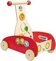 Hape Wonder Walker Push and Pull Toy | Award Winning Wooden Toddler Walking Activity Center, Rolling Baby Walk