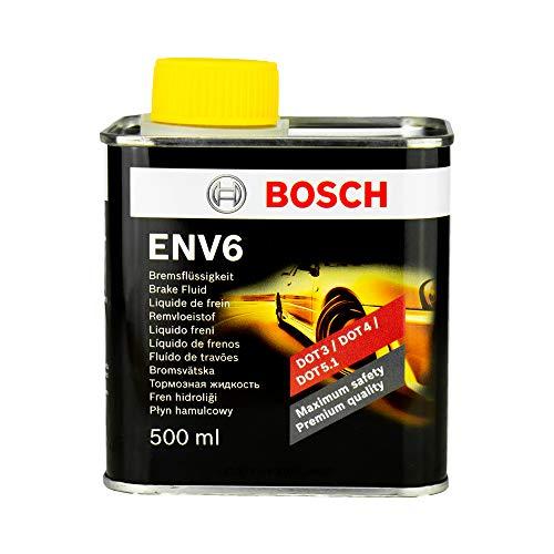 BOSCH Bremsflüssigkeit Brake Fluid ENV6 DOT3 DOT4 DOT5.1 500ml Bremsenflüssigkeit Autobremsflüssigkeit Bremsen Autobremsen Bremsöl