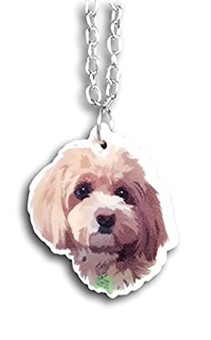 Maltipoo Maltese Poodle Dangle Drop Acrylic Earrings & Necklace Gift Jewelry by Farralone …