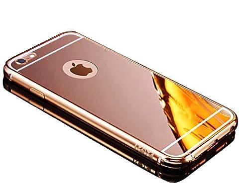Sunroyal für iPhone 6 Plus iPhone 6S Plus 5.5 Zoll Rose Gold Mirror Spiegel Metall (Designer Di Accessori Per Picnic)