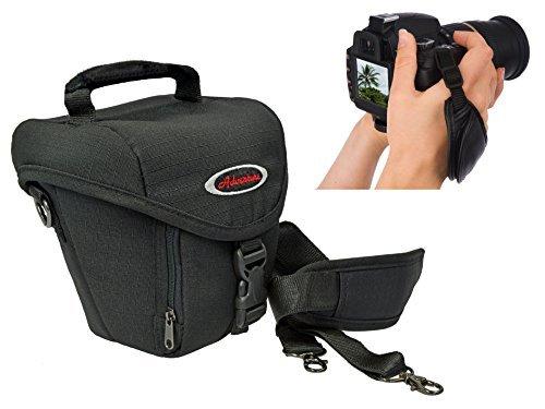 Foto Tasche Kamera Bag ADVENTURE OUTDOOR COLT im Set mit Action-Handgriff Leder