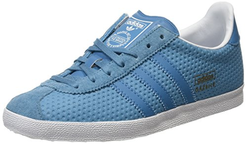 adidas Damen Gazelle OG Sneakers, Blau (Blanch Sea/Blanch Sea/Clear Grey), 39 1/3 EU (Retro-frauen-basketball-schuh)