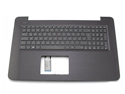 Tastatur inkl. Topcase DE (deutsch) schwarz/schwarz Original 90NB0A01-R30110 für Asus F756UA / F756UB / F756UJ / F756UQ / F756UV / F756UX / Pro Essential P756UA, Essential P756UQ / R753UA / R753UB / R753UQ / R753UV / R753UX / VivoBook X756UA, X756UB, X756UJ, X756UQ, X756UV, X756UX / X756UA-1A / X756UB-1A / X756UJ-1A / X756UQ-1A / X756UQ-3G / X756UV-1A / X756UX-1A