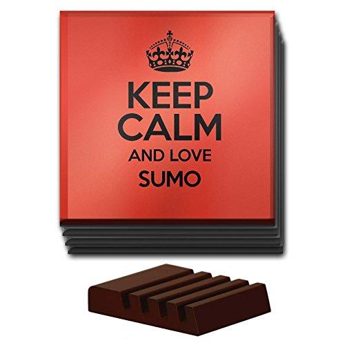 rojo-juego-de-4-posavasos-keep-calm-and-love-sumo-cristal-color-1057