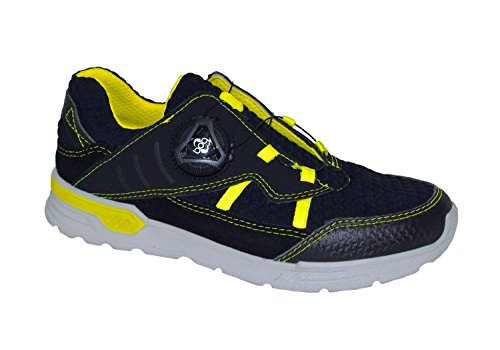 RICOSTA Sneaker BART 64-9520900 / 759 nero / giallo neon Blu