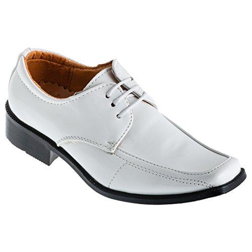 ALIZEA , Chaussures de ville à lacets pour garçon noir Schwarz EU #539 Weiss