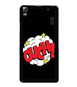 Ouch 2D Hard Polycarbonate Designer Back Case Cover for Lenovo K3 Note :: Lenovo A7000 Turbo