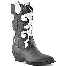 saldi alta qualità nuova collezione stivali texani donna - Amazon.it