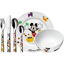 WMF Disney Mickey Mouse - Vajilla para niños 6 piezas, incluye plato, cuenco y