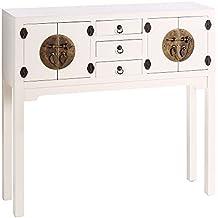 IXIA-Mueble Auxiliar - Recibidor Colección Oriente 4 Puertas y 3 Cajones color Blanco - iBERGADA
