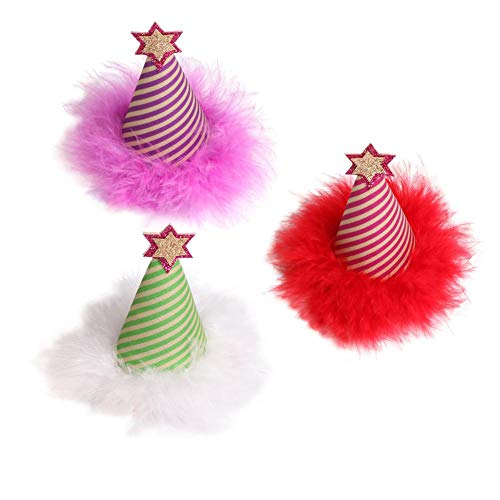 Christmas Hat Hairpin Holiday Hair Clips In Easter, Valentines, Thanksgiving & Christmas Themes For Baby, Toddler & Girls Child Hairpin Hat Card Children Cosplay Costume Christmas Party By ()