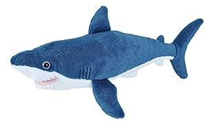 Wild Republic 21478 Mako Shark Plush Soft Toy, Blue, 20 cm