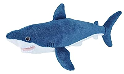Wild Republic 21478 Mako Shark Plush Soft Toy, Blue, 20 cm