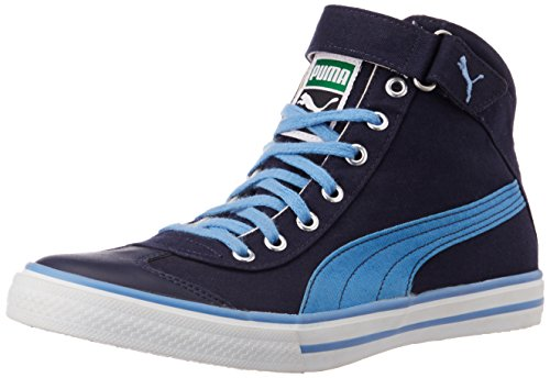 Puma Unisex 917 Mid 3.0 DP Peacoat, Marina Blue and White Canvas Sneakers - 11 UK  available at amazon for Rs.2042