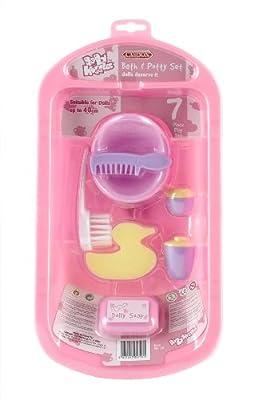 Casdon 711 - Baby Huggles bañera y accesorios de baño para muñecos de hasta 40 cm, color rosa de Casdon